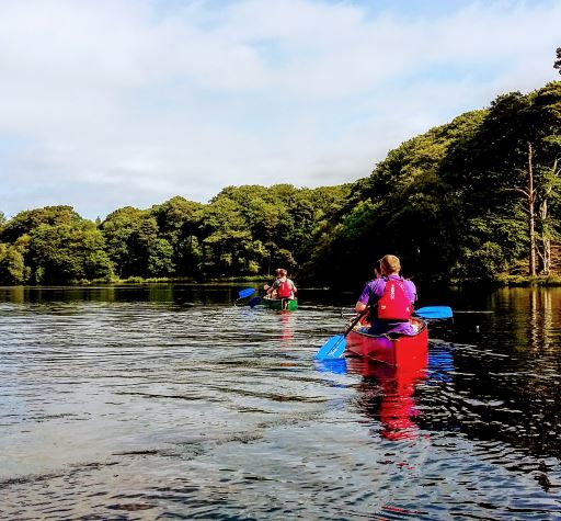 Canoeing in Cumbria at Talkin Tarn Country Park, Brampton