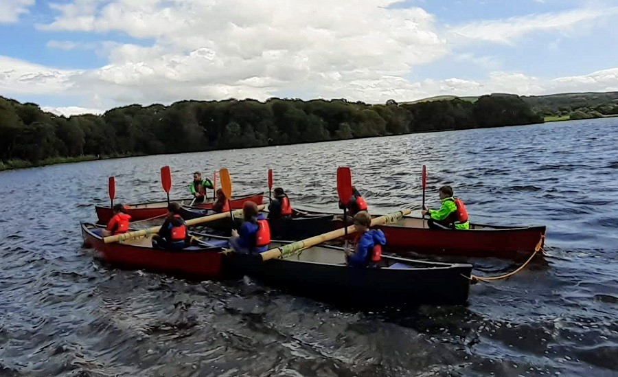 School Canoeing in Cumbria