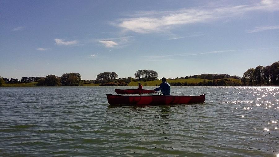 Canoeing at Talkin Tarn
