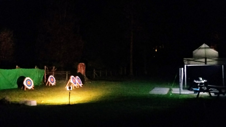 Night time archery for 'Arroween