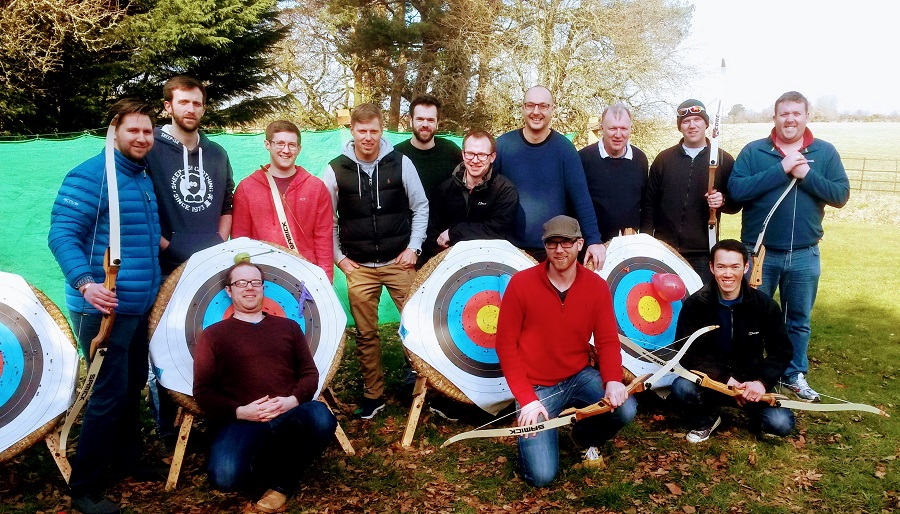 Stag do archery at the Big Pink House, Cumbria